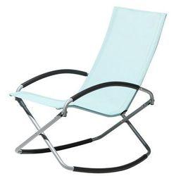 Krzesło ogrodowe błękitne tekstylne składane CASTO