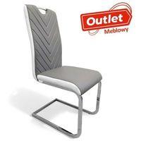 Krzesła, NOWOCZESNE KRZESŁO DO JADALNI ▪️ NEO (AMC-916) ▪️ EKOSKÓRA SZARO-BIAŁY - OUTLET