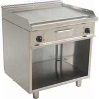 Grille gastronomiczne, Płyta grillowa elektryczna gładka wolnostojąca | 790x530mm | 10400W