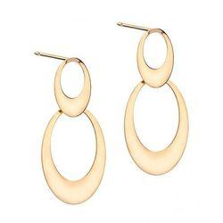 Biżuteria damska INFINITY BTKM0022 Kolczyki srebrne pozłacane