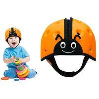 Kaski ochronne dla dzieci, Kask ochronny do nauki chodzenia 7-24msc SAFEHEAD - pomarańczowa biedronka