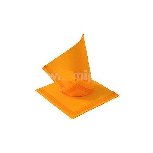 Serwetki papierowe, SERWETKI DESEROWE 38 x 38 cm pomarańczowe paskiem