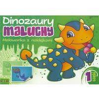 Kolorowanki, Dinozaury maluchy. Malowanka z naklejkami cz.1