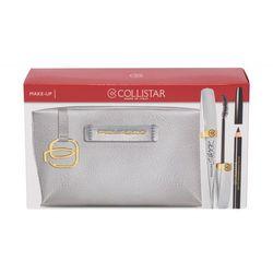 Collistar Shock zestaw Tusz dp rzęs 8 ml + Kredka do oczu 2 g Black + Kosmetyczka Piquadro dla kobiet Black Shock