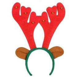 Opaska Rogi Renifera z dzwoneczkami - ozdoby i dekoracje świąteczne