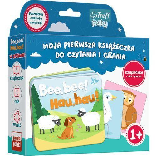 Książki dla dzieci, Bee bee Hau hau Moja pierwsza książeczka do czytania i grania (opr. kartonowa)