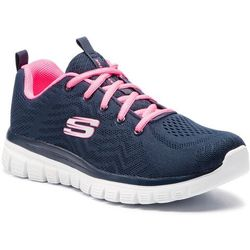 Buty SKECHERS - Get Connected 12615/NVHP Navy/Hot Pink