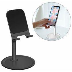 Teleskopowy biurkowy stojak uchwyt na telefon tablet czarny (K3S)