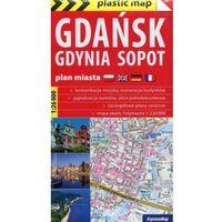 Przewodniki turystyczne, Gdańsk, Gdynia, Sopot laminowany plan miasta skala 1:26 000 - Praca zbiorowa