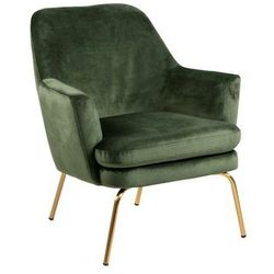 CHISA fotel zielony złote nogi