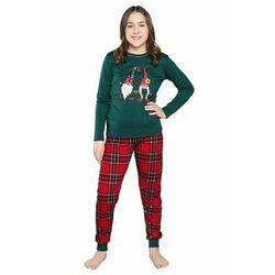 Piżama dziewczęca Santa zielona