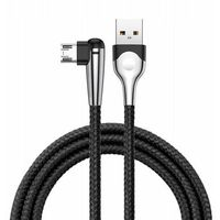 Smartbandy, Baseus MVP Mobile | Kabel kątowy USB - Micro-USB dwustronny Quick Charge 2.4A 100cm z diodą LED