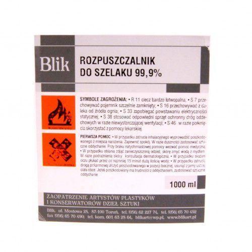 Rozcieńczalniki i rozpuszczalniki, Rozpuszczalnik do szelaku 99,9% 1L Blik
