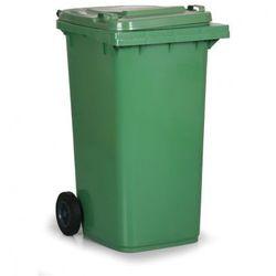 Plastikowy pojemnik na odpady CLD 240 litrów, zielony