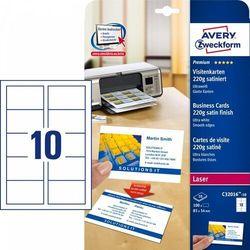 Wizytówki Quick&Clean 85x54mm 100 szt. 220 g satynowane śnieżnobiałe Avery Zweckform