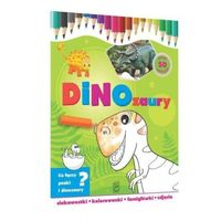Kolorowanki, Dinozaury-ciekawostki, kolorowanki, łamigłówki...