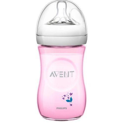 Butelki do karmienia, Butelka AVENT dla niemowląt Natural 260 ml - Różowy