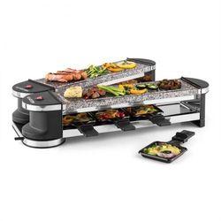 Klarstein Tenderloin 100 grill-raclette 1200W 8 osób 2 x płyta z kamienia naturalnego