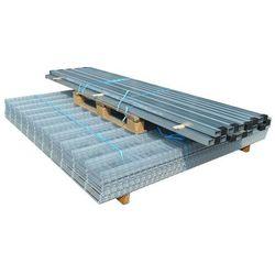 vidaXL Panele ogrodzeniowe 2D z słupkami - 2008x830 mm 32 m Srebrne Darmowa wysyłka i zwroty