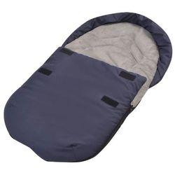 vidaXL Śpiworek do nosidełka lub fotelika samochodu, granatowy Darmowa wysyłka i zwroty