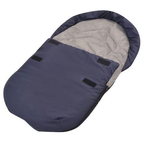 Akcesoria do fotelików, vidaXL Śpiworek do nosidełka lub fotelika samochodu, granatowy
