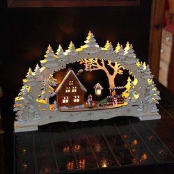Świecznik łukowy Village - LED z wieloma detalami