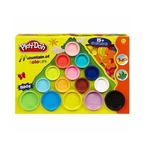 Ciastolina, Play Doh Góra kolorów 15 tub 22570 Hasbro