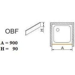 SANPLAST obudowa do brodzików do zabudowy wnękowej OBF 90x9 625-400-0320-01-000