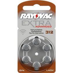 6 x baterie do aparatów słuchowych Rayovac Extra Advanced 312 MF