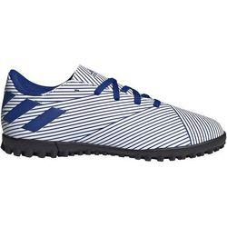 Buty piłkarskie adidas Nemeziz 19.4 TF JUNIOR biało-niebieskie FV3313