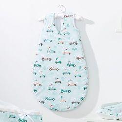MAMO-TATO Śpiworek niemowlęcy do spania Bubble Wyścigówki miętowe
