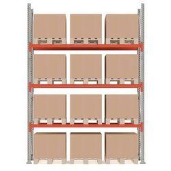 Regał paletowy ULTIMATE, moduł podstawowy, 4000x2750x1100 mm, 12 palet, 500kg/paleta