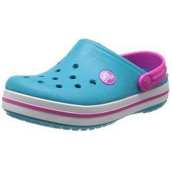 Crocs Kids Crocband Surf Neon Magenta Turkusowo-różowe klapki dla dzieci Różne rozmiary