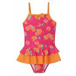 Kostium kąpielowy dziewczęcy bonprix pomarańczowo-różowy