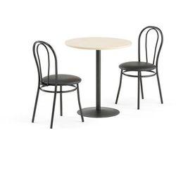 Zestaw mebli do stołówki ASTRID + AURORA, stół, 2 krzesła, czarny