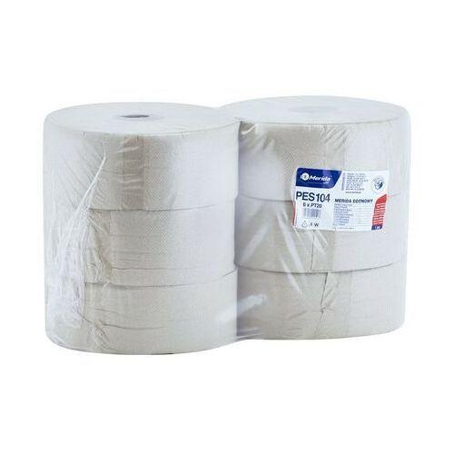 Papier toaletowy, Papier toaletowy Merida Economy, 1 warstwa, makulatura - 6 rolek