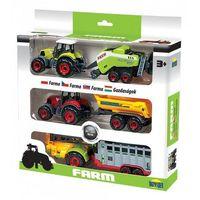 Traktory dla dzieci, Trzy Traktory z przyczepami w pudełku
