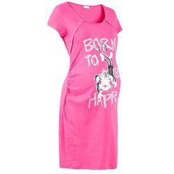 Koszula nocna ciążowa i do karmienia bonprix różowy