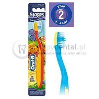 Szczoteczki do zębów, ORAL-B Stages 2 - szczoteczka dla dzieci w wieku od 2 do 4 lat