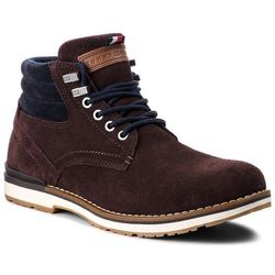 Trapery TOMMY HILFIGER - Outdoor Suede Boot FM0FM01748 Coffee Bean 212