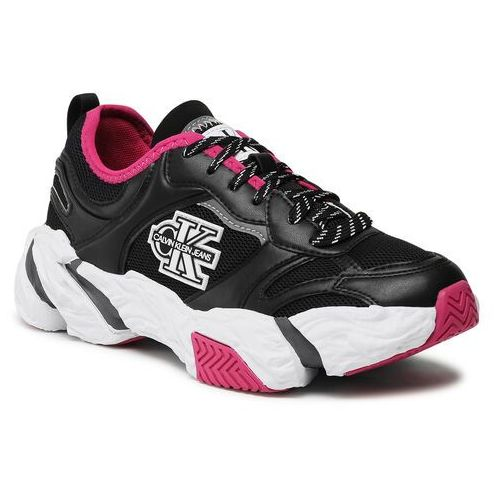 Damskie obuwie sportowe, Sneakersy CALVIN KLEIN JEANS - Runner Sneaker Laceup Pu-Ny YW0YW00091 Black BDS
