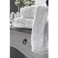 Pozostałe pościele i nakrycia, Zestaw podarunkowy małych ręczników LUNA, 3 szt Biały
