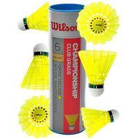 Badminton i speedminton, Lotki do badmintona Wilson Championship 6szt żółte 77