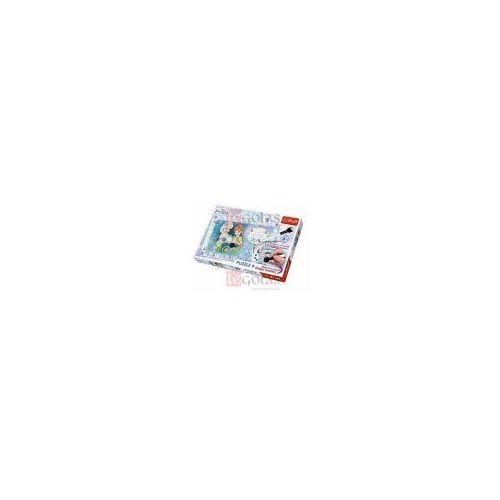 Puzzle, Puzzle Plus 70 + Magiczny mazak Kraina Lodu Urodziny Anny