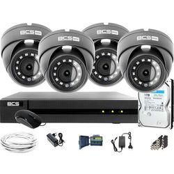 Monitoring Full HD BCS Basic Full HD 2MPx 1TB H265+ 4 x Kamera kopułkowa 2.8mm IR 30m