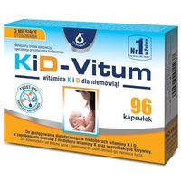 Witaminy i minerały, KiD-VITUM Witamina K i D dla niemowląt kapsułki twist-off x 96 sztuk