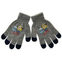 Rękawiczki dziecięce z postaciami z bajki Minionki - Szary