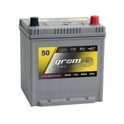 Akumulator GROM Premium 50Ah 450A EN Japan Prawy Plus DTR
