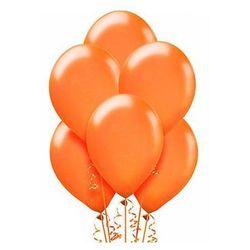 Balony lateksowe metaliczne średnie - pomarańczowe - 100 szt.