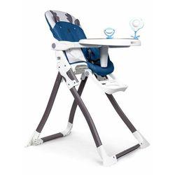Fotelik do karmienia, krzesełko, składane, niebieskie